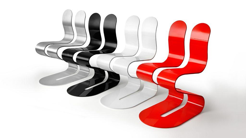 Sedie design in alluminio poltroncine sgabelli sedute for Sedie in alluminio