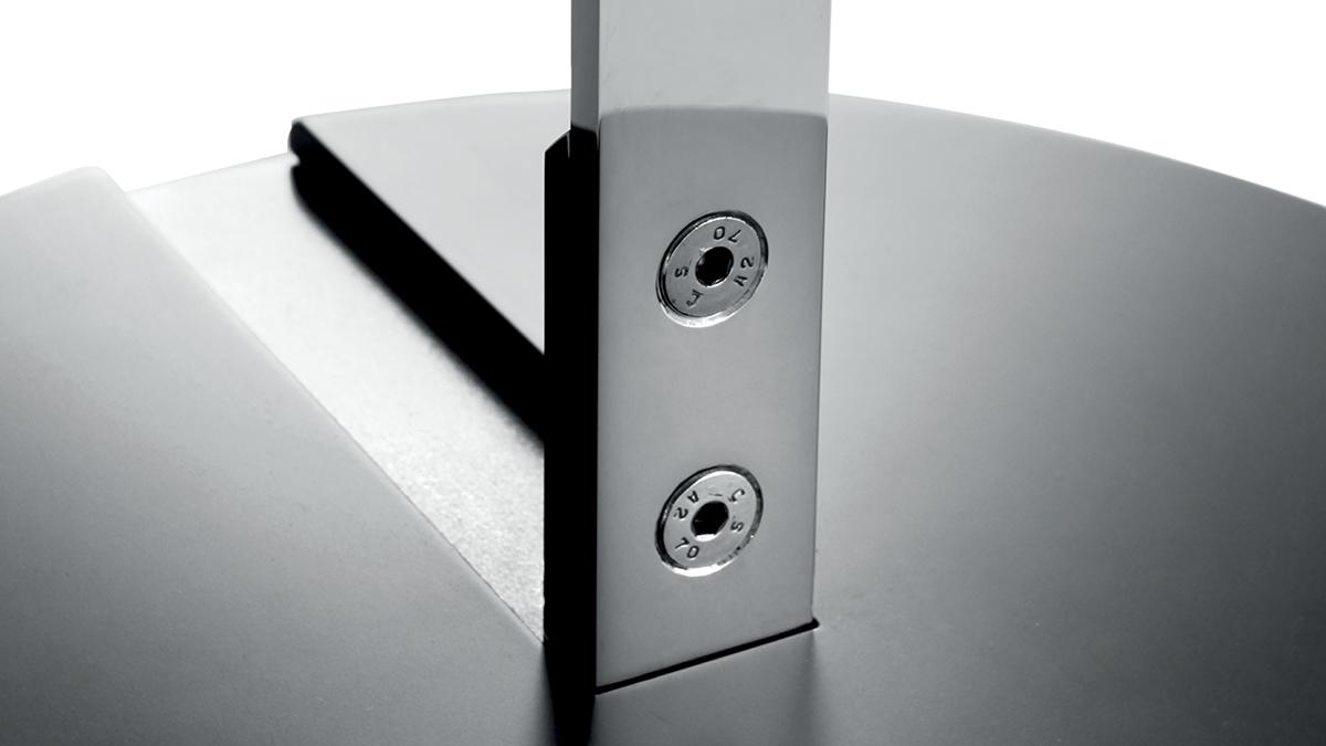 Light design object | Hand made in Italy | Luxury Decor | Lamberti Design - Lampada acciaio inox da terra con luce led per arredamento interni in metallo
