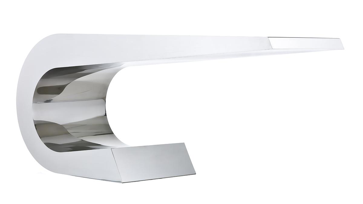 Scrivania acciaio inox design mobili e arredamento in metallo casa e ufficio