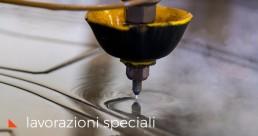 Lavorazione metalli acciaio corten waterjet vcut