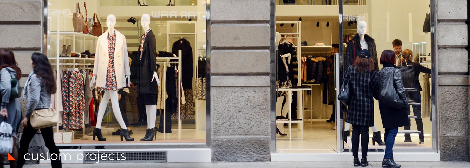 arredamento negozi lavorazione metalli interior design