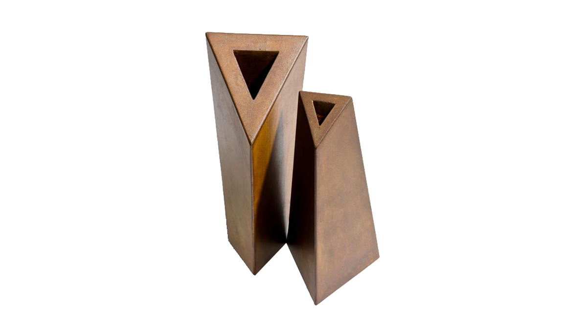 Handmade corten vases | Luxury metal decor and furnitures | Lamberti Design Italy - Fioriere e Vasi in acciaio corten su misura
