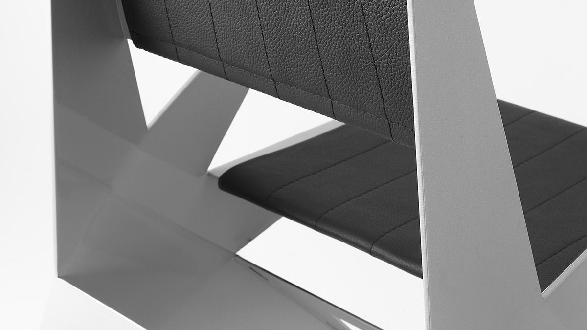 Luxury design armchair | Metal furnishings hand made in Italy | Lamberti Design - Sedia design in alluminio, poltroncine, sgabelli, sedute acciaio inox