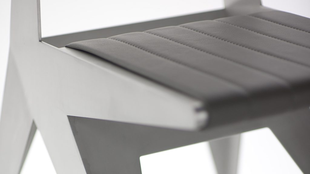 Luxury design chair | Metal furnishings hand made in Italy | Lamberti Design - Sedia design in alluminio, poltroncine, sgabelli, sedute acciaio inox