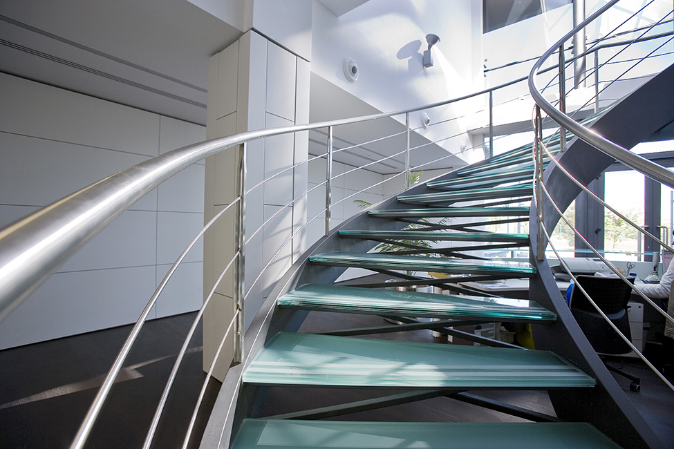Custom steel staircases and metal balusters for outdoor and indoor