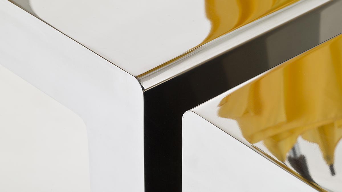 Luxury design furniture | Hand made in Italy | Metal furnishings | Lamberti Design - Arredo acciaio inox scaffale, libreria, scrittoio e mobile d'appoggio