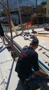 Arredamento esterni outdoor in acciaio esecuzione artigianale su misura