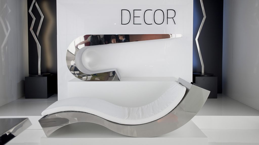 Luxury Chaise Longue | Metal furnitures hand made in Italy | Lamberti - Chaise longue acciaio inox design mobili arredamento metallo casa ufficio