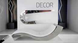 Chaise longue acciaio inox design mobili arredamento metallo casa ufficio