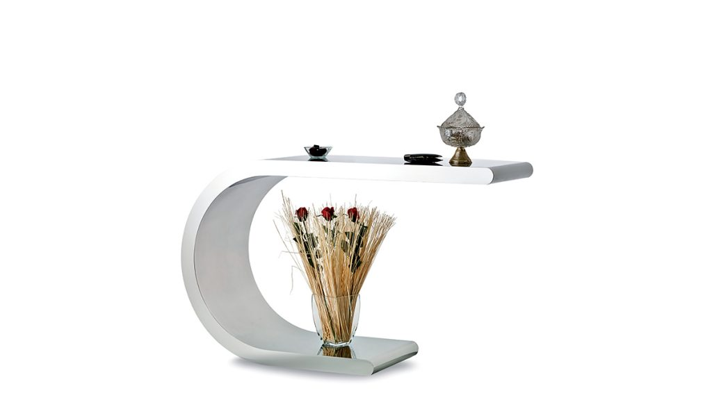 Steel console | Luxury metal furnishings | Hand made in Italy | Lamberti Design - consolle acciaio realizzata artigianalmente su misura