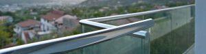 Custom outdoor furnitures - steel and glass balustrades and railings -Balaustre acciaio e vetro arredamento acciaio inox esterni interni su misura