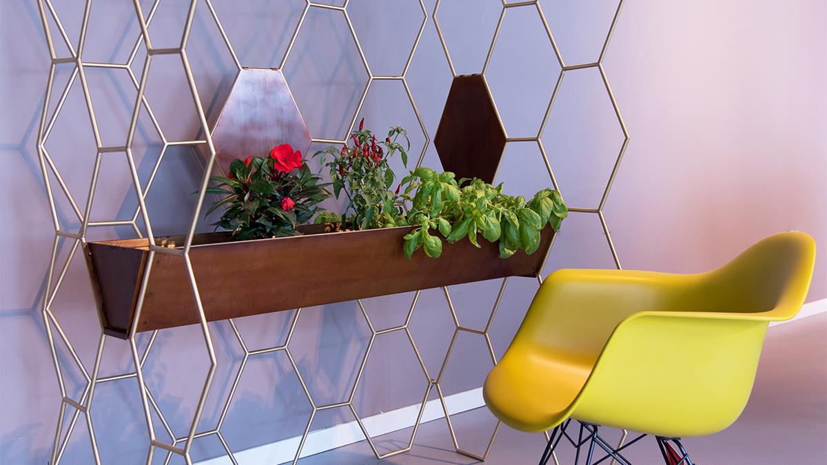 Arredamento design casa ufficio consolle appendiabiti acciaio ottone legno - Luxury metal furniture hand made in Italy with brass or steel - FAVO