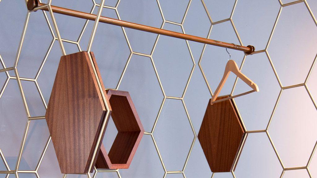 Interior design sistema arredo acciaio ottone made in italy Lamberti