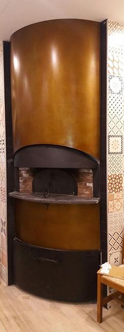 Arredamento pizzerie negozi franchising contract in metallo su misura