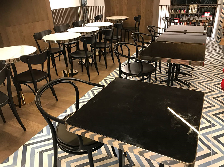 Arredamento ristoranti - Arredo in metallo, finiture speciali, taglio water jet