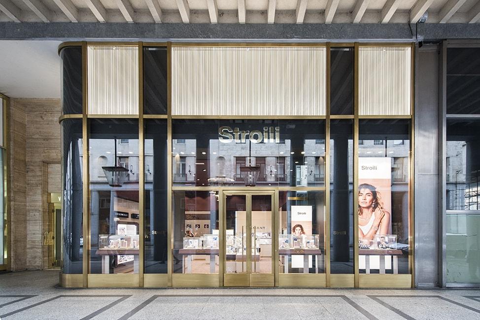 Arredamento gioiellerie - facciate, vetrine, interior design, arredo contract