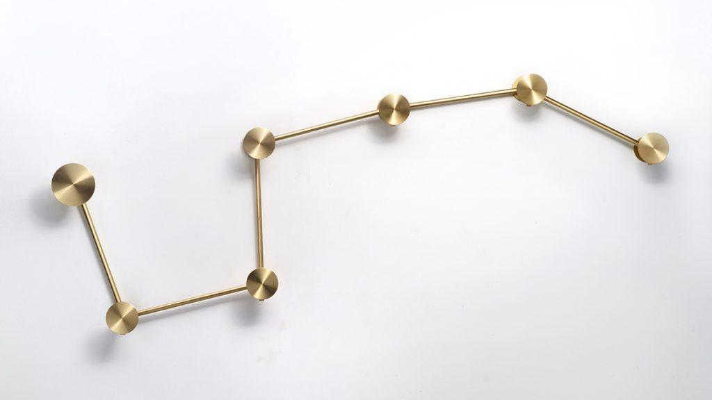 Appendiabiti design in acciaio e ottone - Lamberti made in Italy