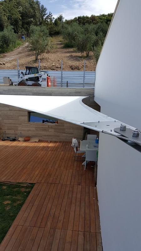 Arredo outdoor - Gazebo e tensostruttura acciaio e tessuto nautico, Lamberti Design
