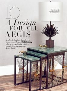 Lamberti Design luxury metal furnishings in metal and marble - Harper's Bazaar - Arredo artigianale in metallo e marmo - Lamberti Design collezione AEGIS