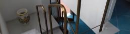 Balaustra ottone rosato - Progettazione e realizzazione arredamento in metallo