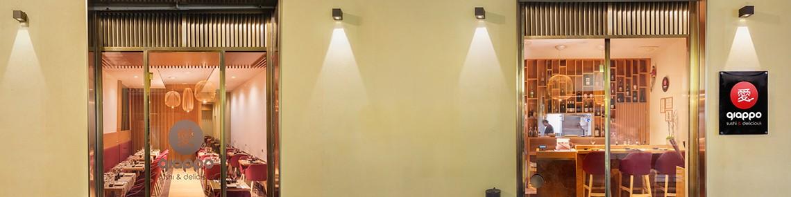 Arredamento ristoranti - Arredo personalizzato sushi bar e ristorante giapponese - Restaurant furniture, custom made with special metal finisting - Lamberti Italy