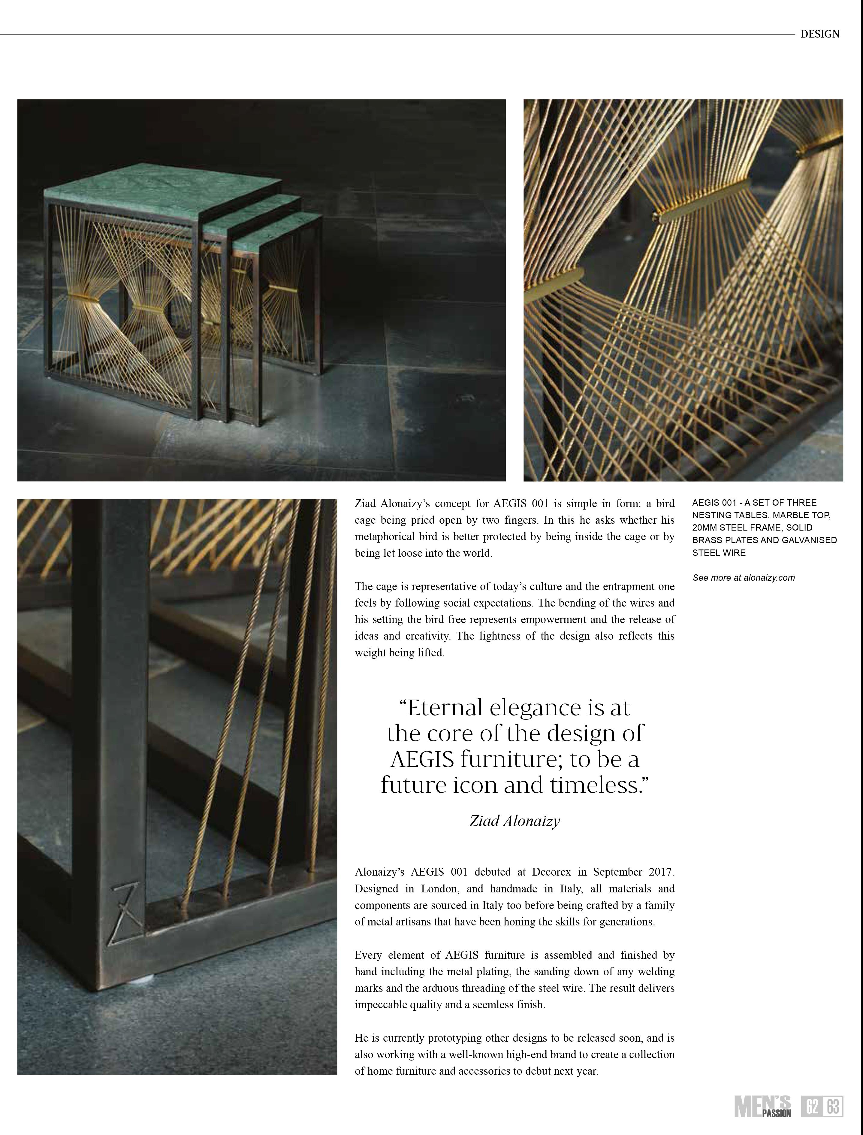 Artigianato design in metallo - Lamberti e la collezione Aegis di Ziad Alonaizy