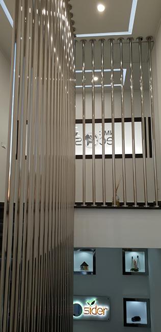 Balaustra acciaio inox finitura lucida - Lamberti Design Italia