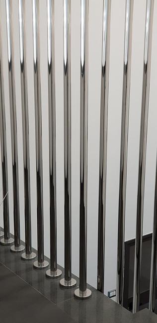 Balaustre acciaio inox con finitura lucida - Lamberti design