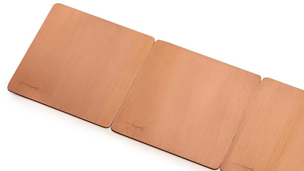ferro rosa rame finitura metallica